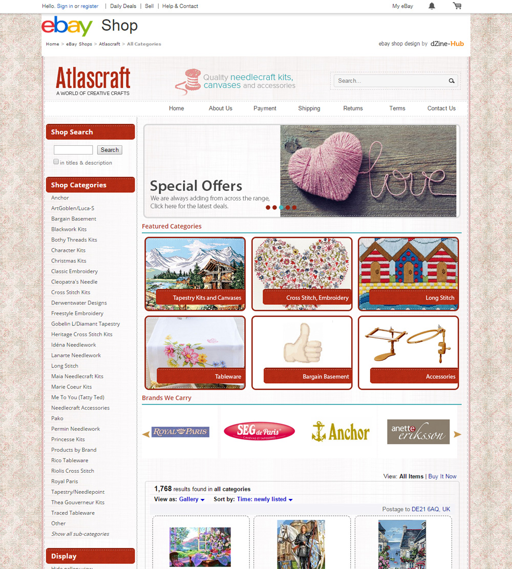 atlas craft ebay store homepage